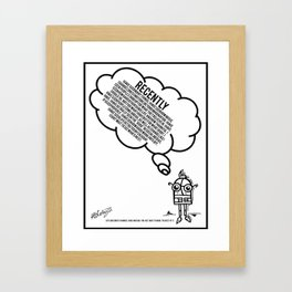Life As I Know It Framed Art Print