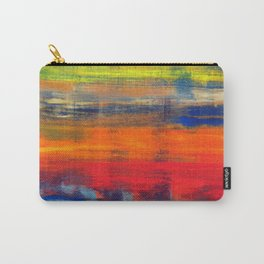 Horizon Blue Orange Red Abstract Art Carry-All Pouch
