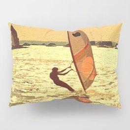 Windsurfer Windsurfing Surfing Water Painting Dad Gift  Pillow Sham