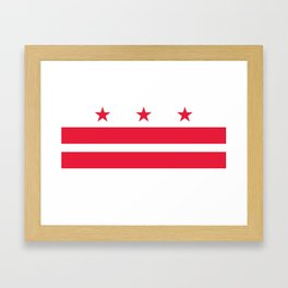 Flag of the District of Columbia - Washington D.C authentic version Framed Art Print