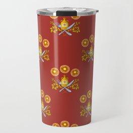 Waffle and Syrup (Strawberry Jam Crimson) Travel Mug