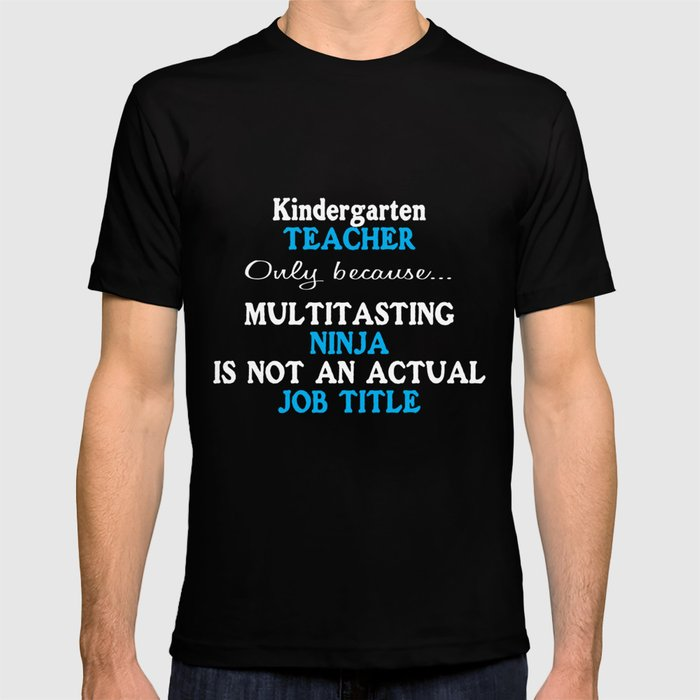 Funny kindergarten school teacher appreciation T-shirt by sitifadillah