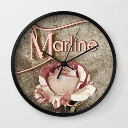 Personalized Antique Rose Wall Clock