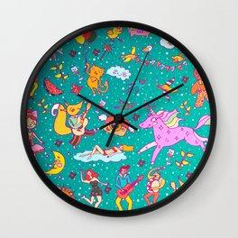 fairy pattern Wall Clock