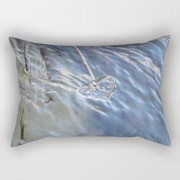 Blue Ice heart Rectangular Pillow