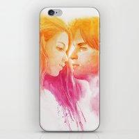 valentine iPhone & iPod Skins featuring Valentine by Aurora Wienhold