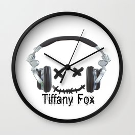 Tiffany Fox DJ Wall Clock
