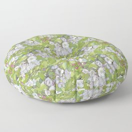 Apple Blossoms Floor Pillow