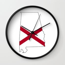 Alabama Love Wall Clock