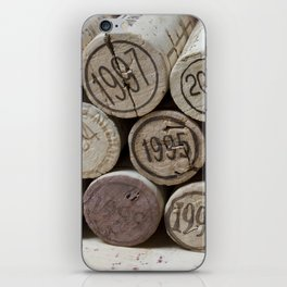Vintage Wine Corks iPhone Skin