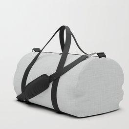 Plain grey fabric texture Duffle Bag