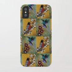 Hummingbird and Robin Slim Case iPhone X