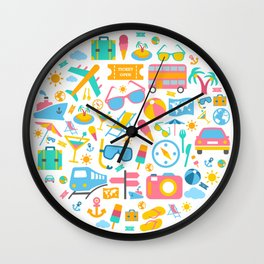 World Tour Vacations Wall Clock