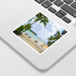 A Dreamy Day at a Tahitian Beach, Bora Bora Sticker