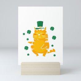 Cute Happy St. Catty's Day for St. Patty Mini Art Print
