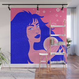 The blue witch of fortune Wall Mural