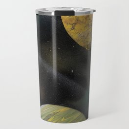 Planets in Space - Spray Paint Art Travel Mug