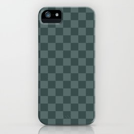 Checkerboard Pattern Inspired By Night Watch PPG1145-7 & Juniper Berry Green PPG1145-6 iPhone Case