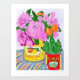 Flores, El Pato, Still Life Art Print
