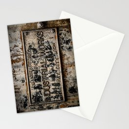 Name Plate Bay City Industrial Works Wreck Crane Train Manufacturer Railroad Rust Stationery Cards