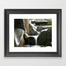 Rocky water fall Framed Art Print