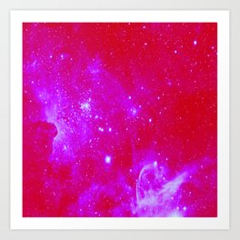 Bright Pink, Fuschia Galaxy Art Print