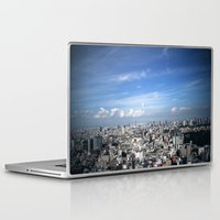 tokyo Laptop & iPad Skins featuring tokyo by signe constable
