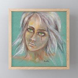 Fan art Witcher III - Cirilla Fiona Elen Riannon Framed Mini Art Print