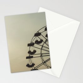 Ferris wheel in a Luna Park shortly before sunset in autumn Stationery Cards