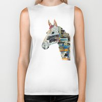 mod Biker Tanks featuring the mod horse by bri.buckley