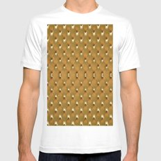 Luxury Golden Leather vector new design White Mens Fitted Tee MEDIUM