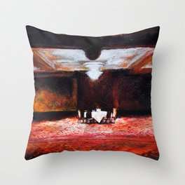Empty Ballroom by Aaron Bir Throw Pillow