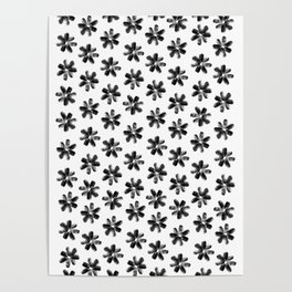 Sunflower Seeds Flowers Pattern Poster