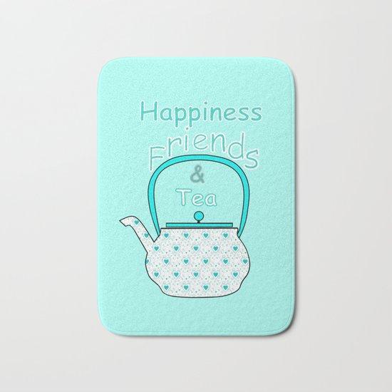 Happiness And Tea Bath Mat