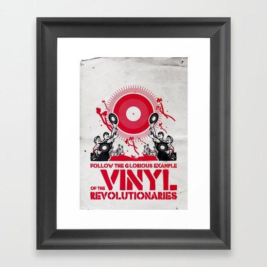 Vinyl Revolution Framed Art Print