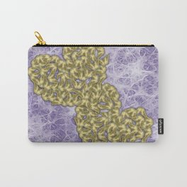 Butterfly swarms in heart shape on purple web texture Carry-All Pouch