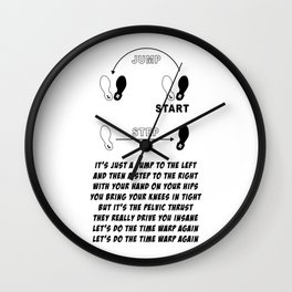 TIME WARP- WITH LYRICS (THE ROCKY HORROR PICTURE SHOW) Wall Clock