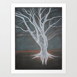 White Tree Art Print