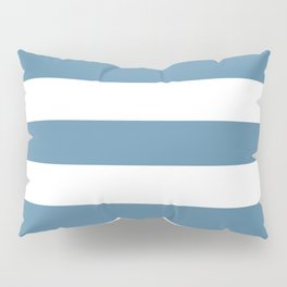 Air Force blue (RAF) - solid color - white stripes pattern Pillow Sham