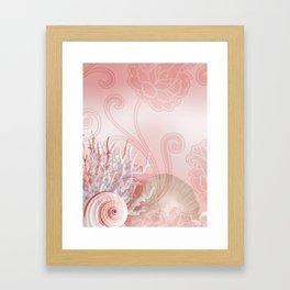 SEASHELL DREAMS | pink Framed Art Print