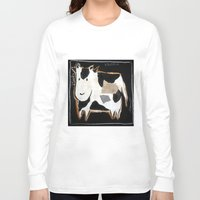 cow Long Sleeve T-shirts featuring cow by woman