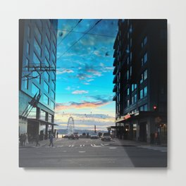 Seattle Summer Sunset Metal Print