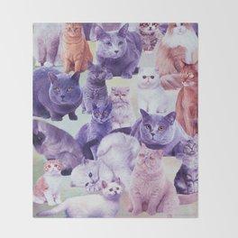cats portrait Throw Blanket