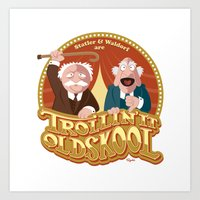 blair waldorf Art Prints featuring Statler & Waldorf by Szoki