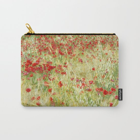 """Abstract poppies"" Carry-All Pouch"