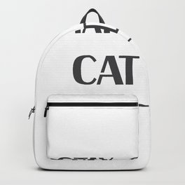 Dad Love Cat Fathers Day Cat Lover Pet Love Gifts Backpack