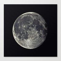 the moon Canvas Prints featuring Moon by Pete Baker