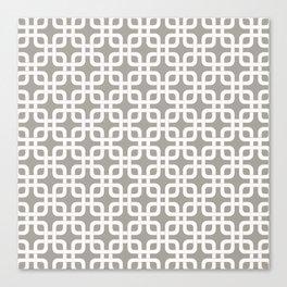 Mid-Century Modern Geometric Pattern, rounded corner squares interlocking Canvas Print