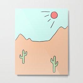 desert print Metal Print