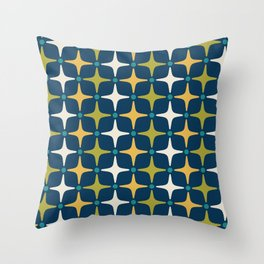 Mid Century Modern Star Pattern 583 Throw Pillow